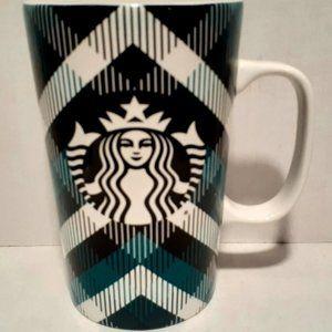 Starbucks 2015 Plaid Siren Mermaid Coffee Mug